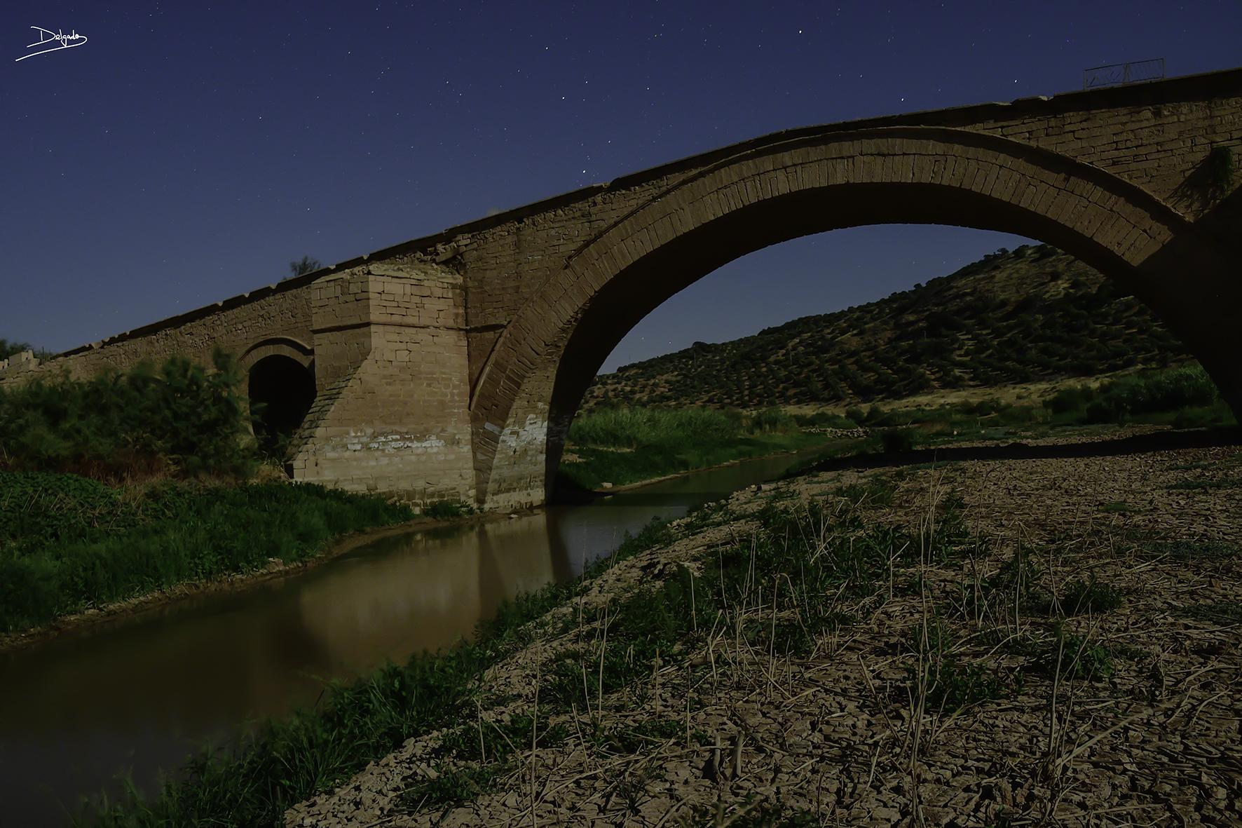 Foto del día: lluvia de estrellas en el Puente Ariza